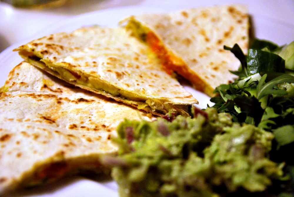 Quesadillas med pesto