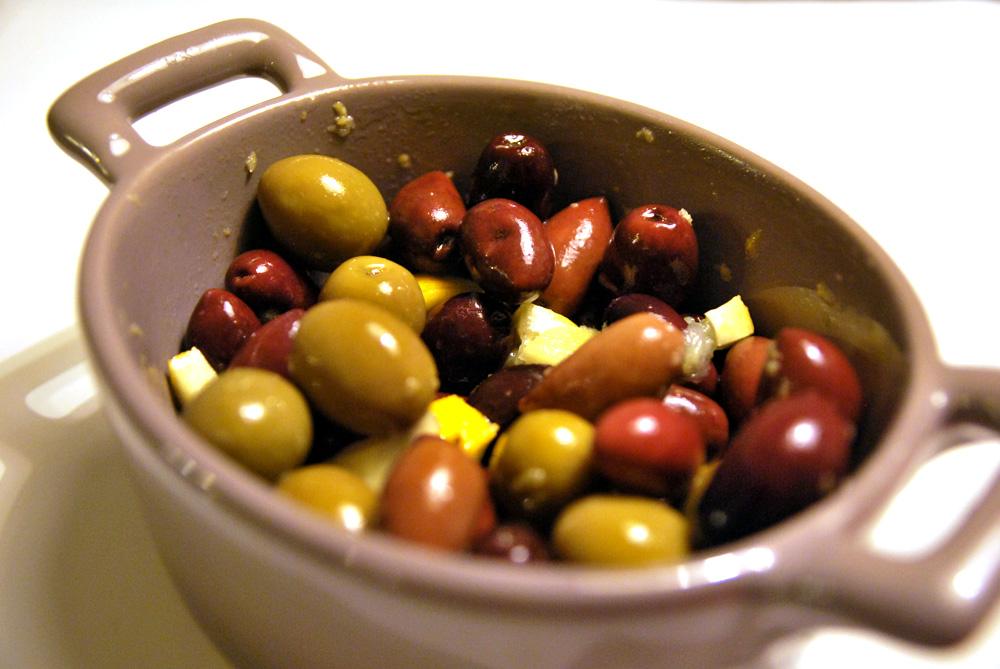 Citronmarinerade oliver