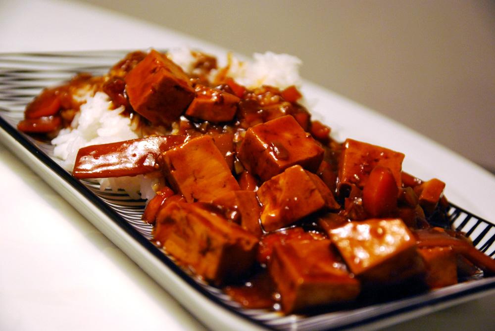Tofu i sötsur sås